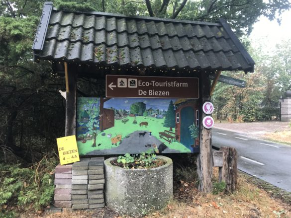 Campsite Eco-tourist farm De Biezen | Entrance of De Biezen