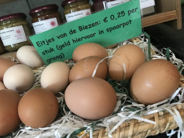 Campsite Eco-tourist farm De Biezen | Eggs from Rina's own chickens