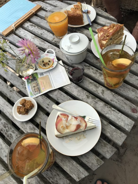 Campsite Eco-tourist farm De Biezen | The best cake I ever had in the tea garden